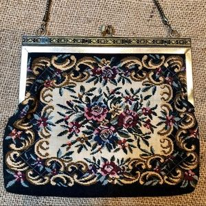 Vintage Petit Point Purse Tapestry Bag